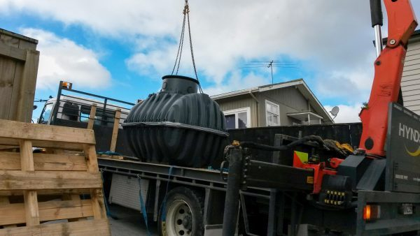 Plastic Water Tank Hiab Delivery